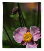 Pink Anemone Fleece Blanket