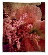 Pink Arrangement Fleece Blanket
