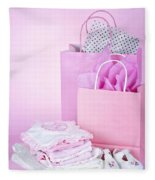 Pink Baby Shower Presents Fleece Blanket