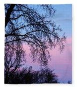 Pink Blue Sky Fleece Blanket