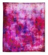 Pink Blueberries Fleece Blanket
