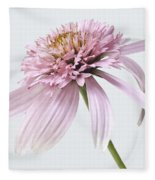 Pink Cone Flower Fleece Blanket