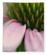Pink Cone Flower Fleece Blanket