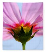 Pink Cosmos Fleece Blanket