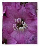 Pink Delphinium Fleece Blanket