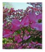 Pink Dogwood  Fleece Blanket