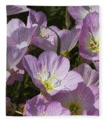 Pink Evening Primrose Wildflowers Fleece Blanket