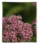 Pink Flower Cluster Fleece Blanket