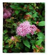 Pink Flowers Of Little Bavaria Fleece Blanket