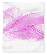 Pink Ghost Fleece Blanket