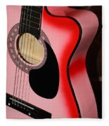 Pink Guitar Fleece Blanket