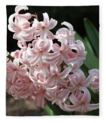 Pink Hyacinth Fleece Blanket
