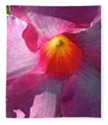 Pink Mandevilla Fleece Blanket