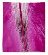 Pink Marabou Macro Fleece Blanket