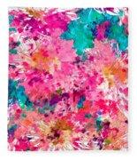 Pink Mums Fleece Blanket