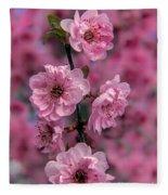Pink On Pink Fleece Blanket