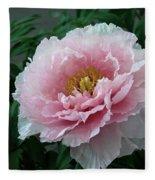 Pink Peony Flowers Series 2 Fleece Blanket