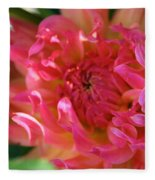 Pink Petal Flames Fleece Blanket