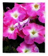 Pink Petunias Fleece Blanket