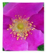 Pink Portulaca Fleece Blanket
