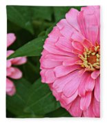 Pink Posy Pano Fleece Blanket