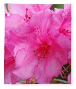 Pink Rhody Fleece Blanket