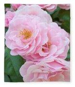 Pink Roses II Fleece Blanket