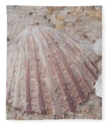 Pink Scallop Shell Fleece Blanket