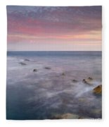 Pink Seasunset Fleece Blanket