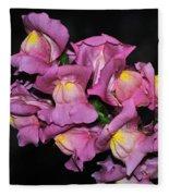 Pink Snapdragons 2 Fleece Blanket
