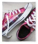 Pink Sneakers Fleece Blanket
