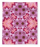 Pink Splash Mandala Abstract Fleece Blanket