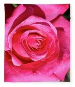 Pink Sunrise Rose Fleece Blanket