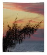 Pink Sunset Fleece Blanket