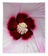 Pink Swirl Hibiscus Fleece Blanket