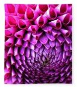 Pink To Purple Dahlia Fleece Blanket