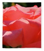 Pink Touch Of Class Petals Fleece Blanket