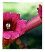 Pink Trumpets Fleece Blanket