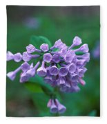 Pink Virginia Bluebells 1c Fleece Blanket