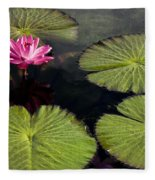 Pink Water Lily I Fleece Blanket