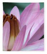 Pink Water Lily Macro Fleece Blanket