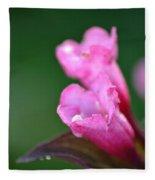 Pink Weigela Fleece Blanket