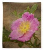 Pink Wild Rose Fleece Blanket