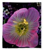 Pink Wildflower  Fleece Blanket