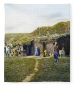 Pioneers Sod House, 1887 Fleece Blanket