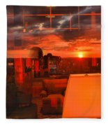 Pipestem Sunset Fleece Blanket