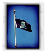 Pirate Flag Fleece Blanket