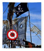 Pirate Ship With Target Fleece Blanket