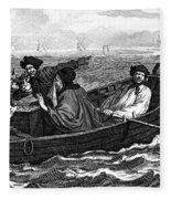 Pirates, 18th Century Fleece Blanket