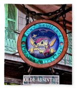 Pirates Alley Cafe Fleece Blanket